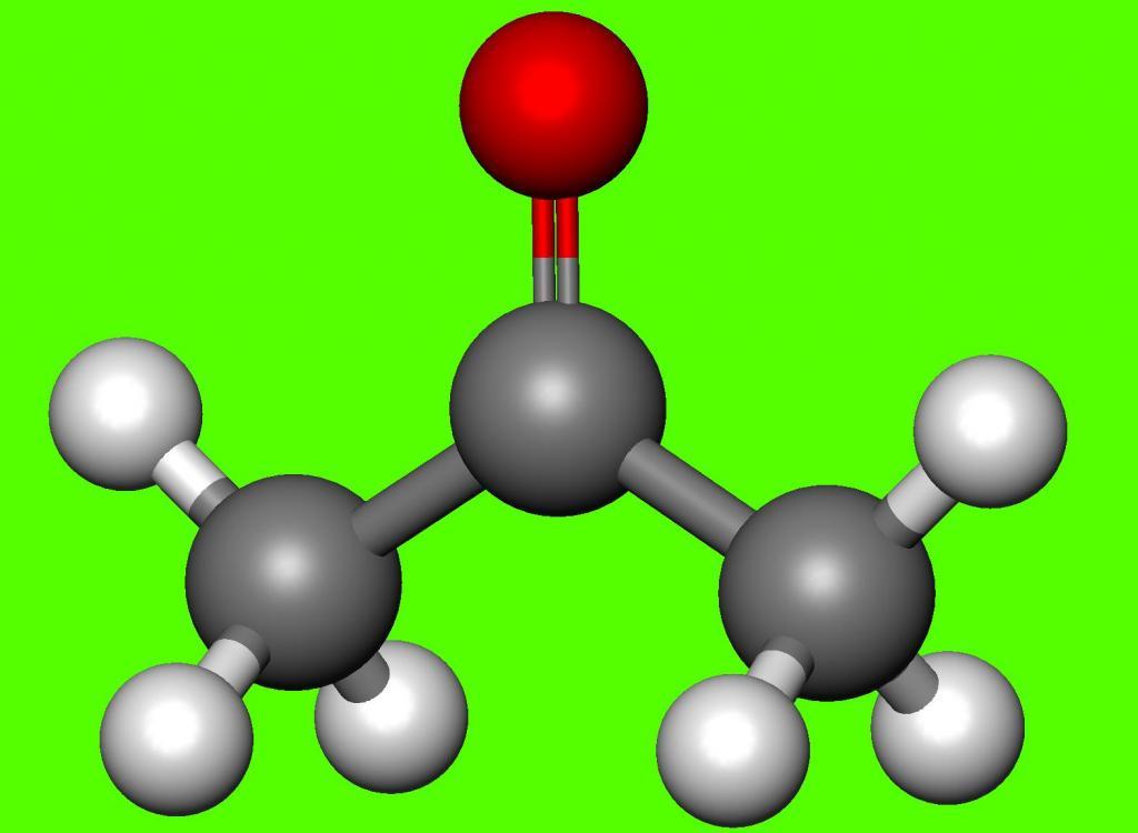 Формула ацетона