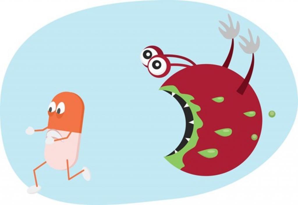 бактерия и антибиотик