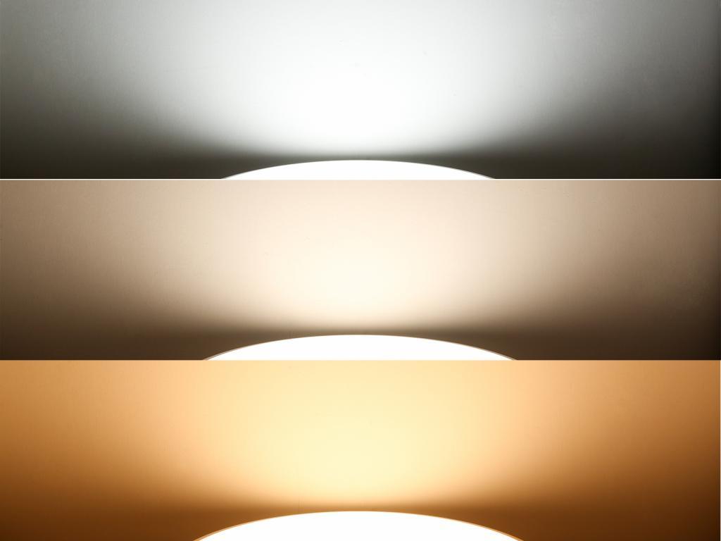 При помощи диммера можно изменять температуру цвета
