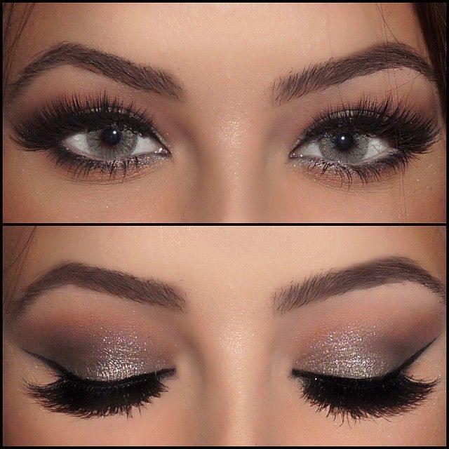 Брюнетки макияж светлая кожа серые глаза thumbnail