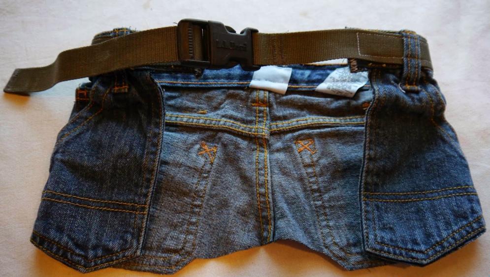 пояс для инструментов из старых джинсов
