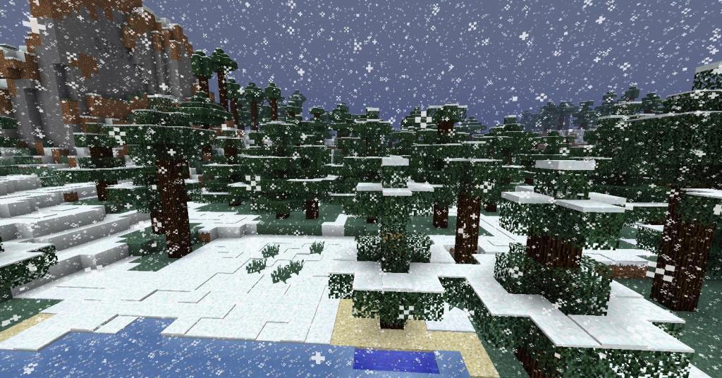 """Как сделать снег в """"Майнкрафте"""""""
