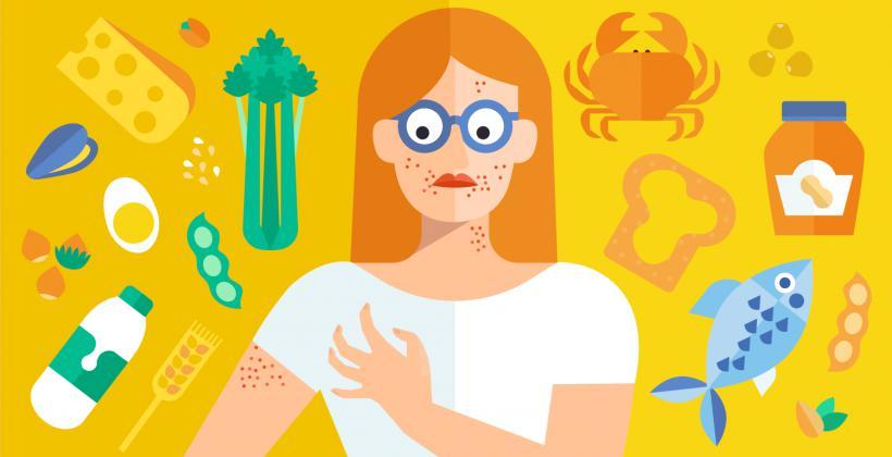 Аллергия на разные продукты
