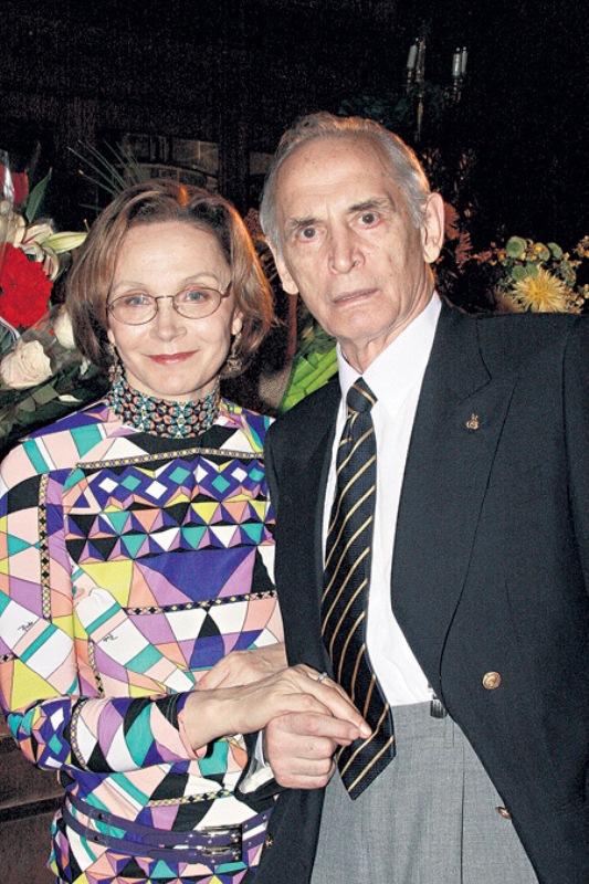 Василий Лановой с женой