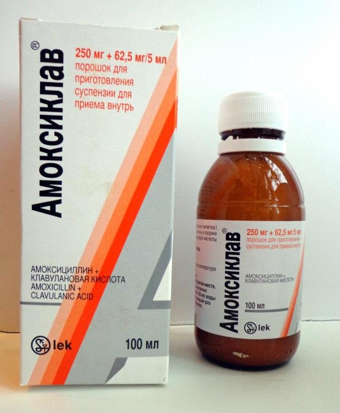 антибиотик амоксиклав инструкция по применению