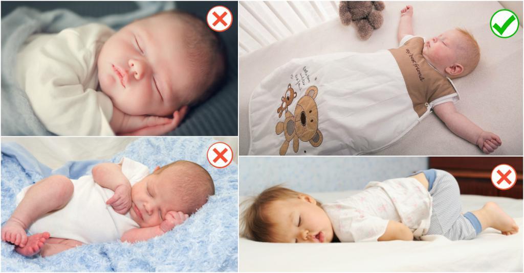 Можно ли новорожденному спать на спине