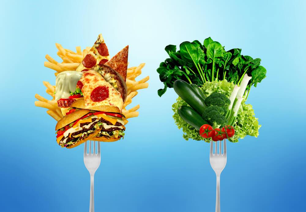 полезная и плохая пища