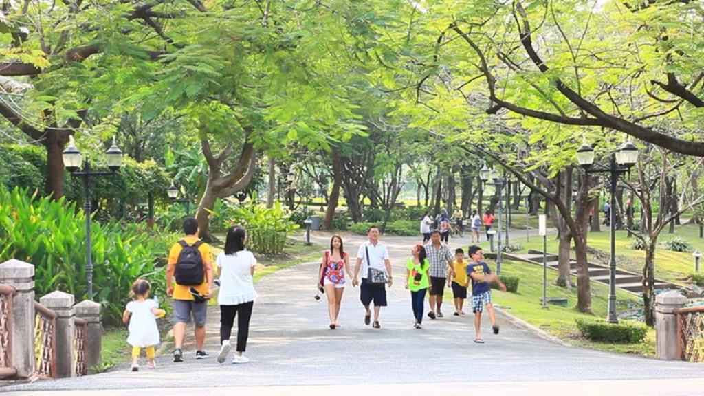 прогулки по парку пешком