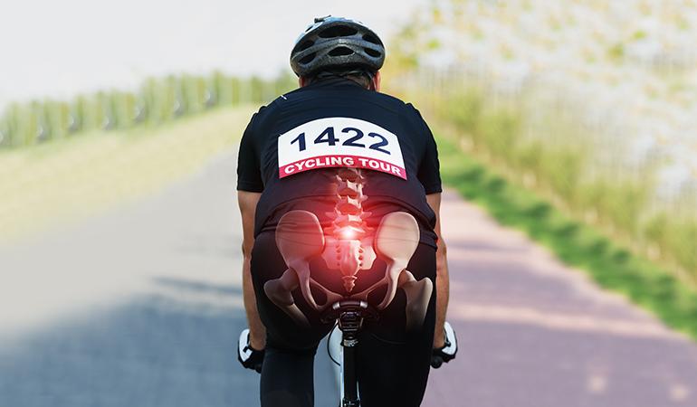 травмирование копчика при езде на велосипеде