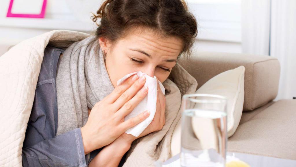 Насморк при заболевании гриппом