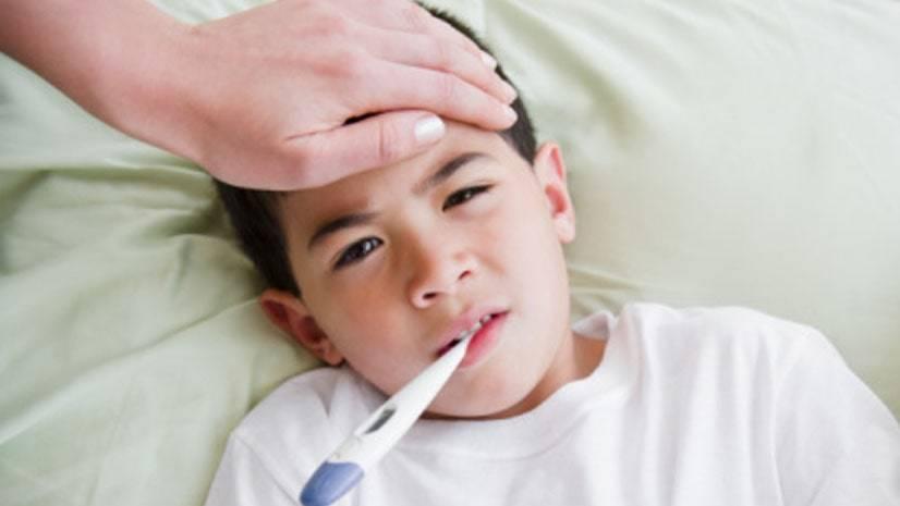 Повышение температуры у ребенка при гриппе