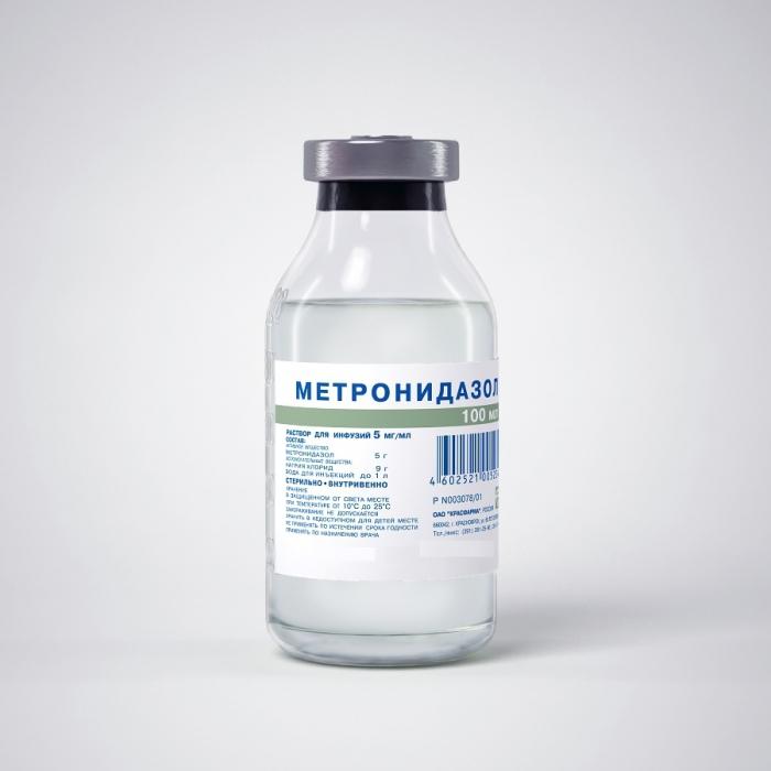 Метранидазол раствор для инфузий