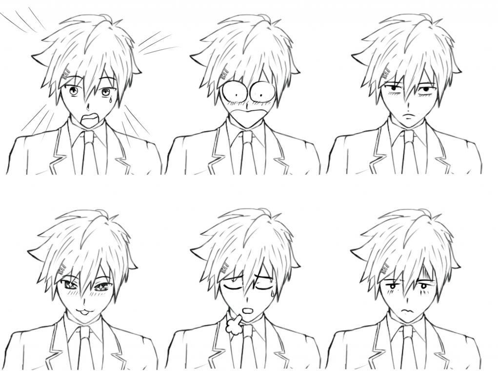 Рисование эмоций в аниме