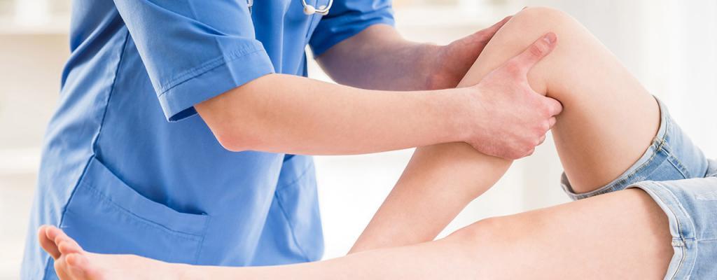 Первая помощь при повреждении колена