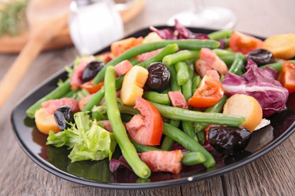 Легкий овощной салат для похудения