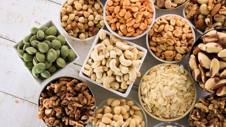 разнообразие орехов
