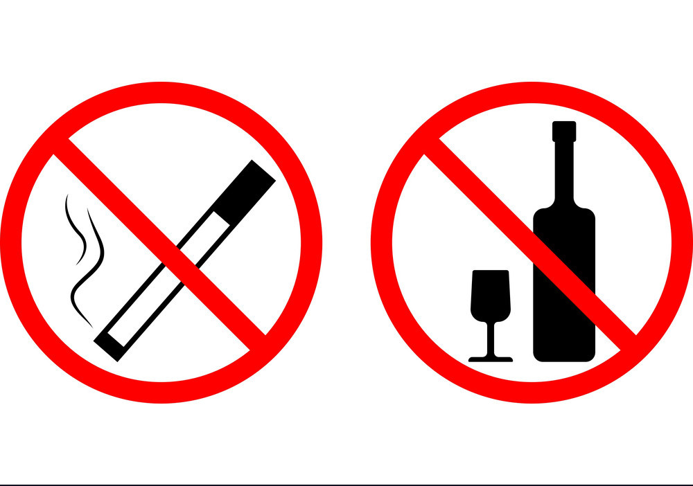 запрет алкоголя и сигарет