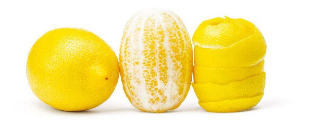 Очищенный лимон