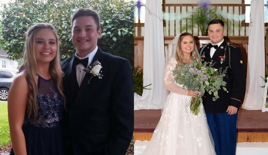 Мы встречались еще в школе. Молодые люди поделились выпускными и свадебными фото