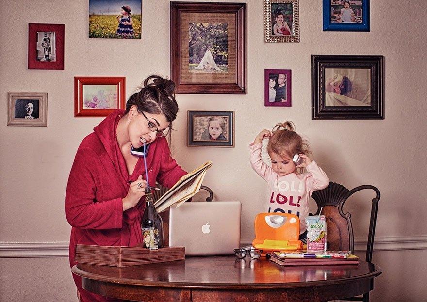Хорошего дня, картинки женщина с детьми прикольные