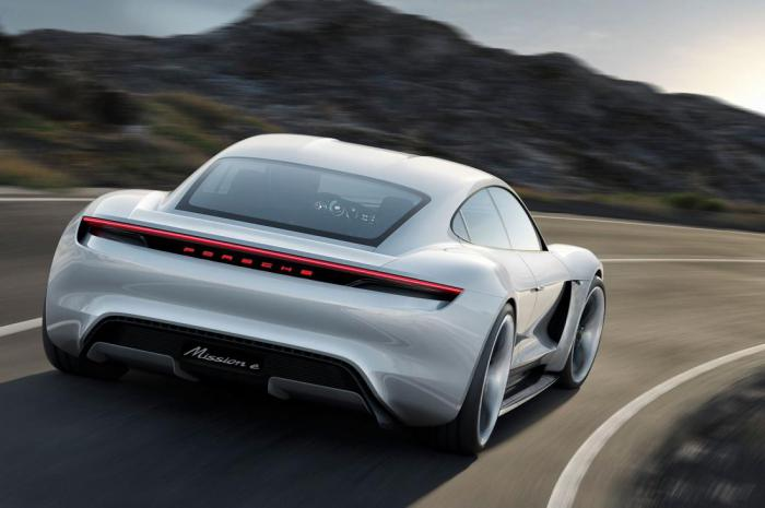 A new electric supercar from Porsche concept Mission E