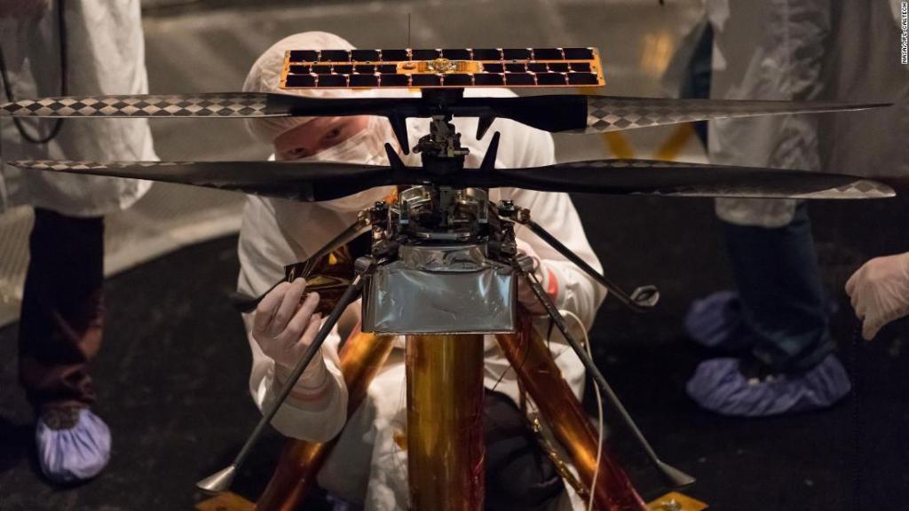Американские инженеры создают крошечный вертолет для полета на Марс