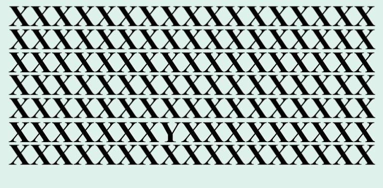 Тест на внимательность: хватит ли вам 30 секунд, чтобы найти Y на всех рисунках? Мне хватило