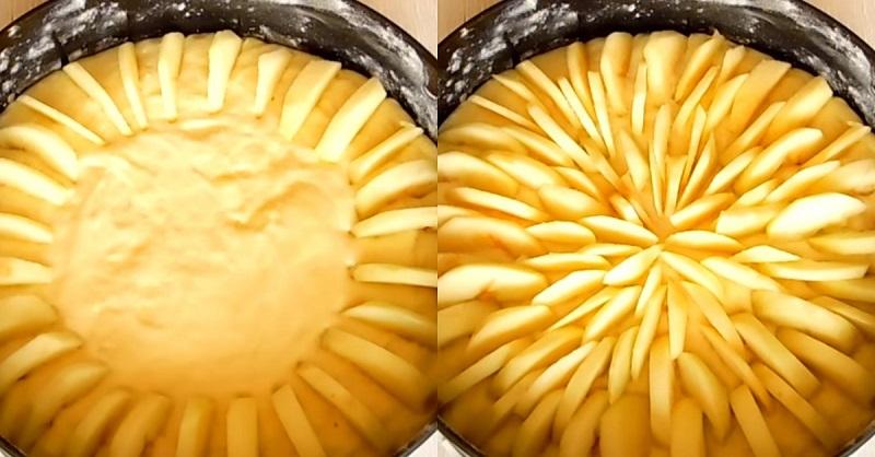 Дети устали от обычной шарлотки, и я приготовила им новый яблочный пирог: теперь все подружки просят рецепт