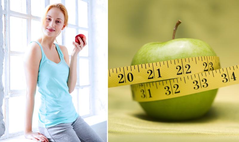 Способствуют похудению яблоко
