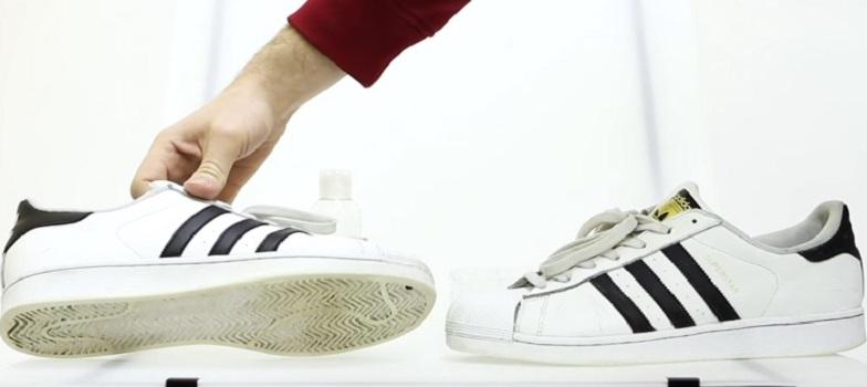 Забрала любимые белые кроссовки из ремонта и узнала простой способ, как можно вернуть им заводскую белизну