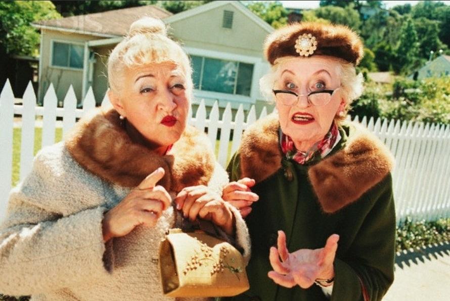 Открытка, смешные картинки старушек подружек