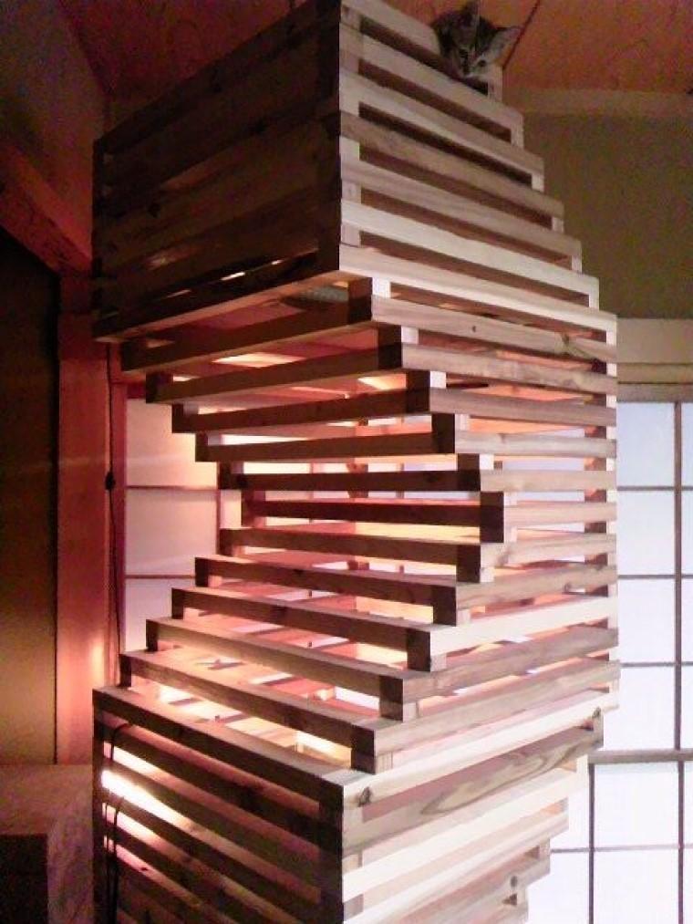 Сын построил настоящую башню для наших любимцев: они могут часами лазать по ней