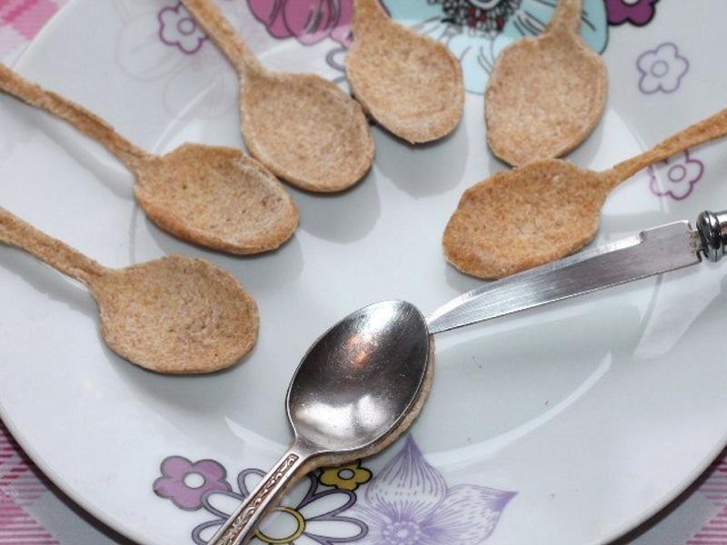 Когда захотелось чего-то необычного: приготовила хрустящие ложечки с кремом. Делюсь рецептом оригинальной закуски