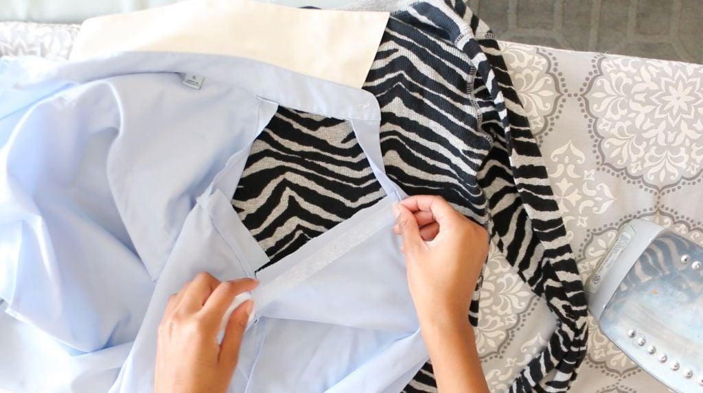 Обычную рубашку можно превратить в игривый наряд для танцев или вечеринки: для этого даже не потребуется ничего шить