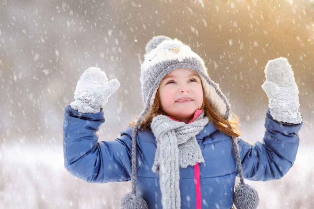 Фото дети радуются снегу