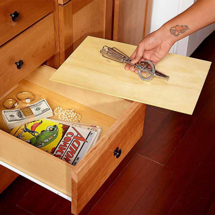 Как сделать ящик с секретом
