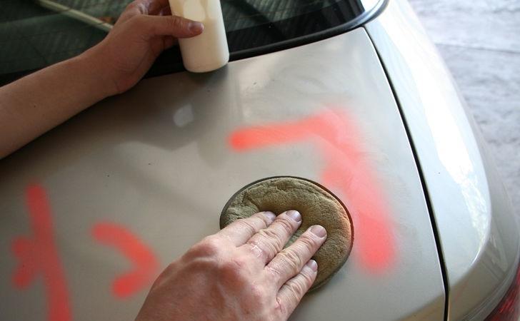 Как отмыть краску от баллончика на асфальте