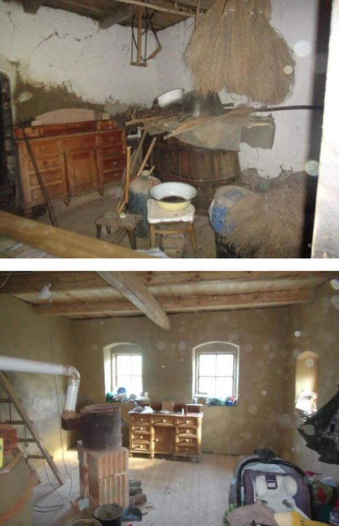 У молодоженов не было денег на дом. Они купили старую развалюху на краю леса и отремонтировали ее — получилось отлично (фото)