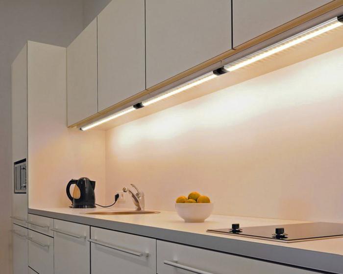 светодиодные светильники на кухне фото недавнее появление