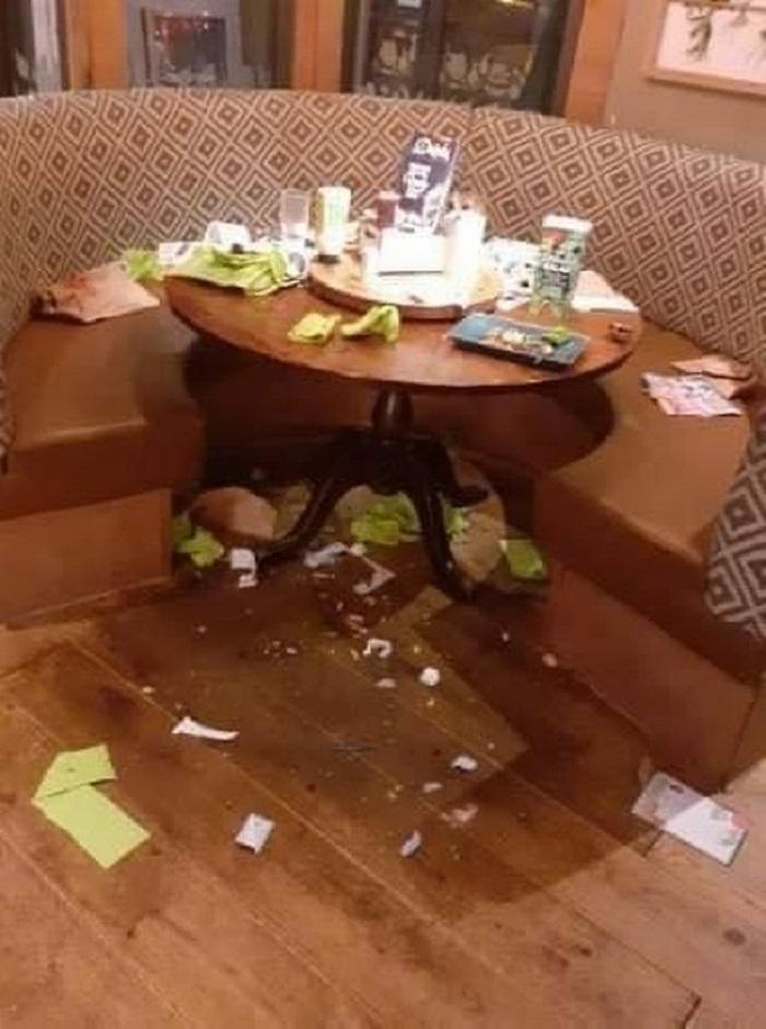 Семья пообедала в ресторане и ушла: заведение не удержалось и показало людям, в каком виде был оставлен стол
