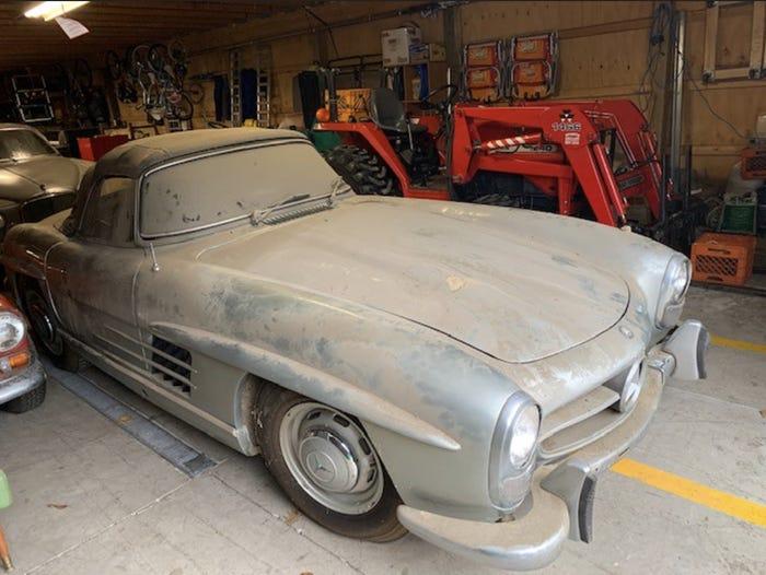 Редкий Mercedes простоял в сарае более 40 лет, теперь он продан за 1,1 миллиона долларов