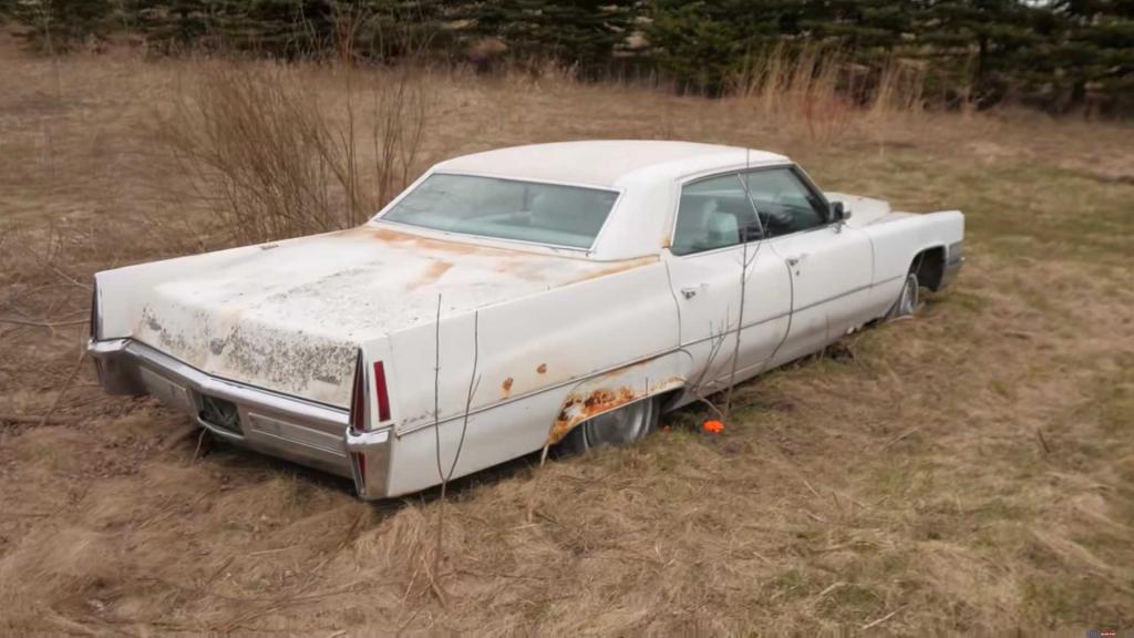 Старый Cadillac простоял 20 лет в поле, но умелый механик сотворил чудо и своим ходом доехал на нем до гаража