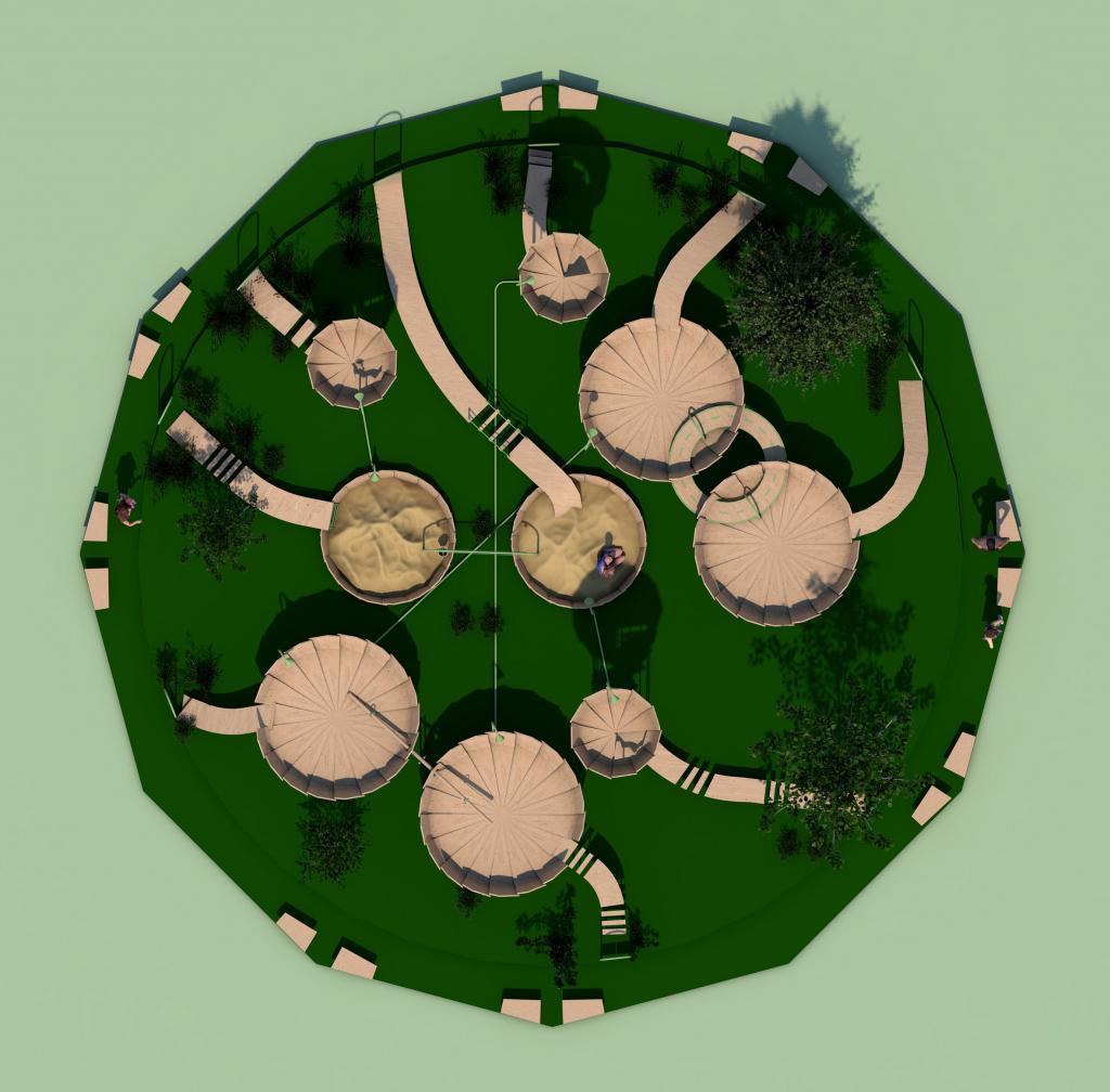 Водяная лилия для Дюймовочки: как может выглядеть детская игровая площадка после пандемии