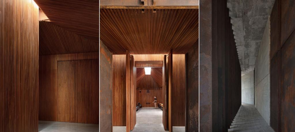 А с виду и не скажешь: архитекторы построили синагогу. Здание без намека на религиозность, даже внутри. Фото