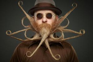 Это стоит увидеть: самые неординарные участники конкурса на лучшие усы и бороду