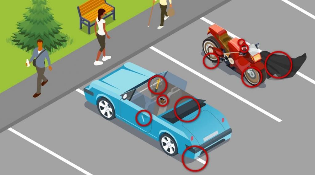 Какие угрозы безопасности транспорта есть на рисунке: на поиски дается 49 секунд