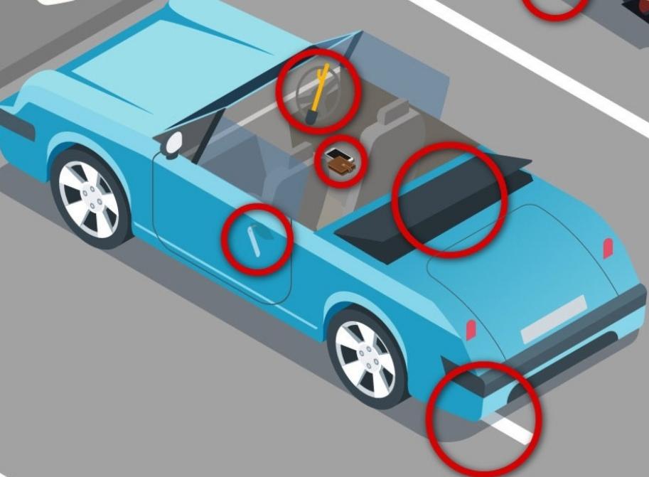На картинке изображены 10 угроз безопасности: обычно люди находят их за 49 секунд