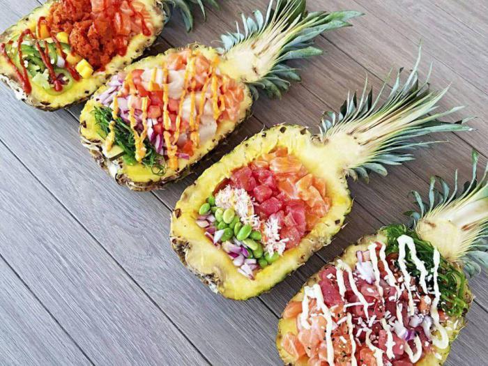 оформление ананаса к праздничному столу фото постере
