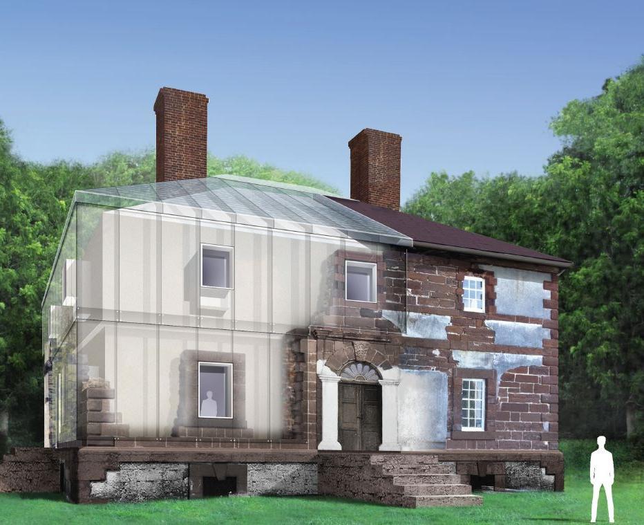 Перед дизайнерами стояла непростая задача - изящно сохранить дом 1700-х годов. Оригинальное решение нашлось