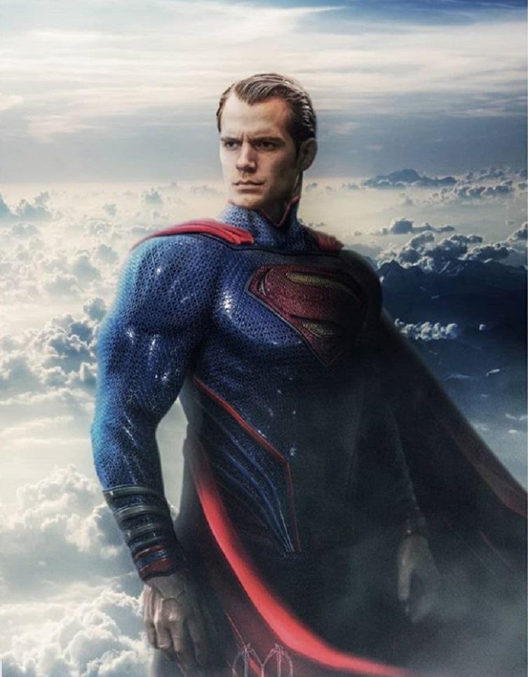 """Фан-арт фантазии: как мог бы выглядеть Генри Кавилл в образе Супермена во второй части """"Человека из стали"""""""